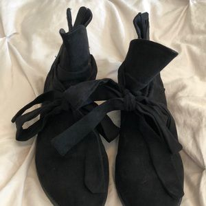 lane Bryant ankle bootie black